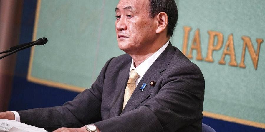 Japan's Liberal Democratic Party's leadership election candidate and Japan's Chief Cabinet Secretary Yoshihide Suga