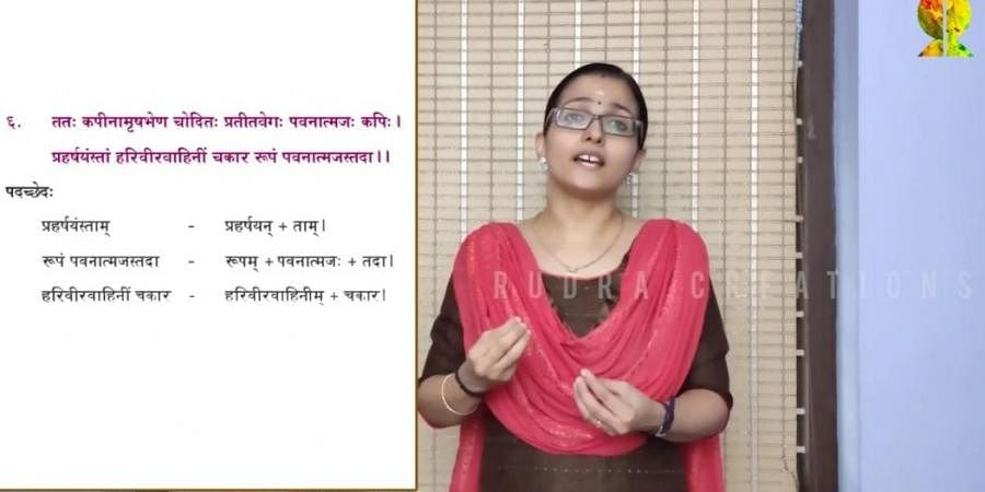 Sanskrit online class by Rudra @ School