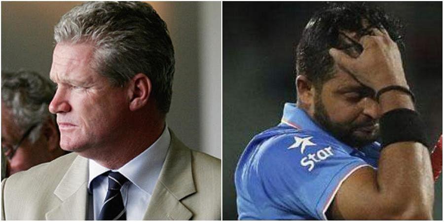 Former Australian cricketer Dean Jones (L) and all-rounder Suresh Raina