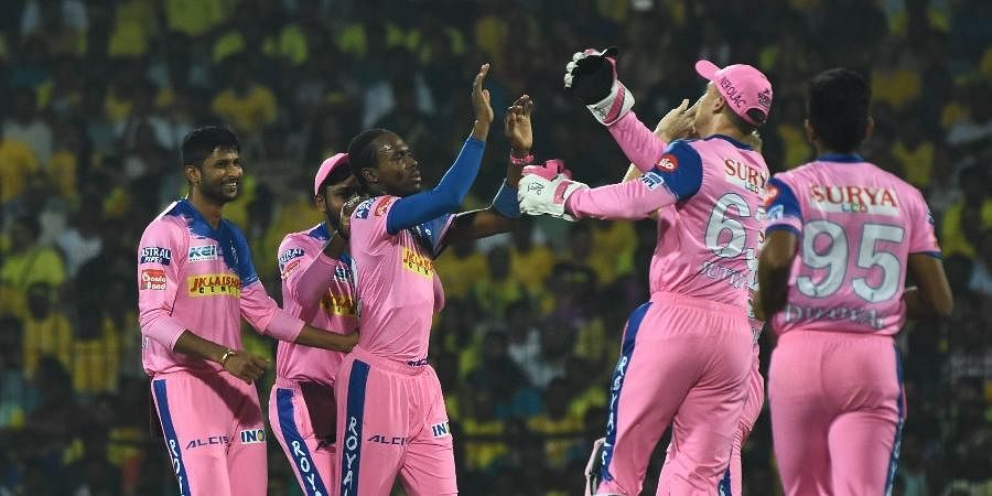Rajasthan Royals players in action