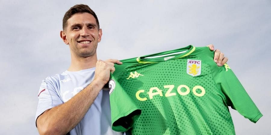 Aston Villa's new goalkeeper Emiliano Martinez