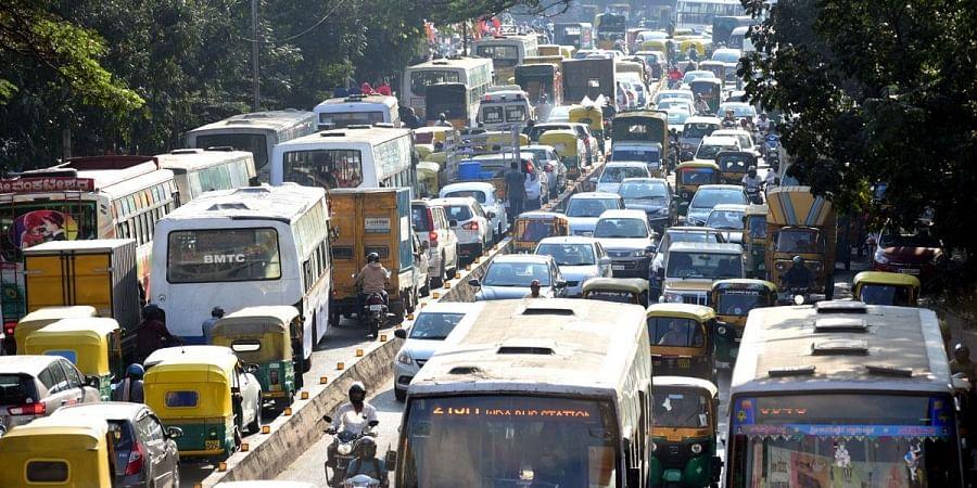 JC road in Bengaluru