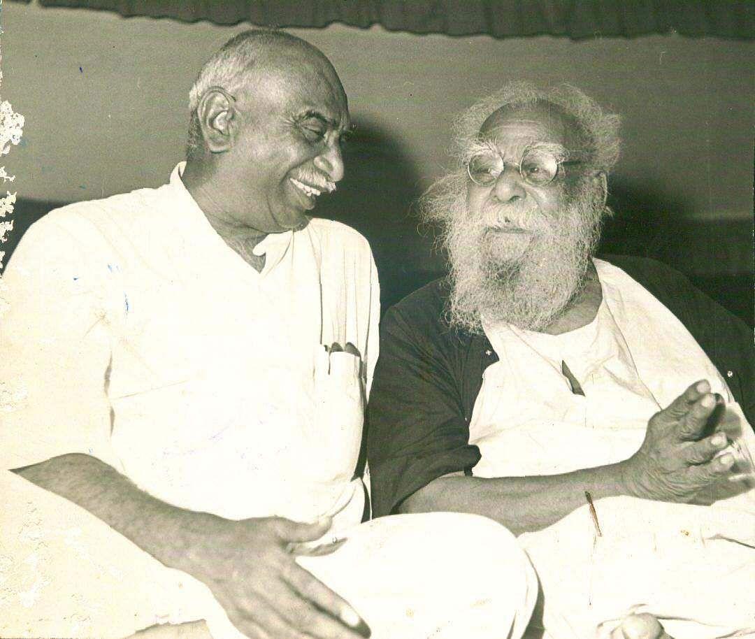 DravidaKazhagam founder Periyar with former Tamil Nadu CM Kamaraj.