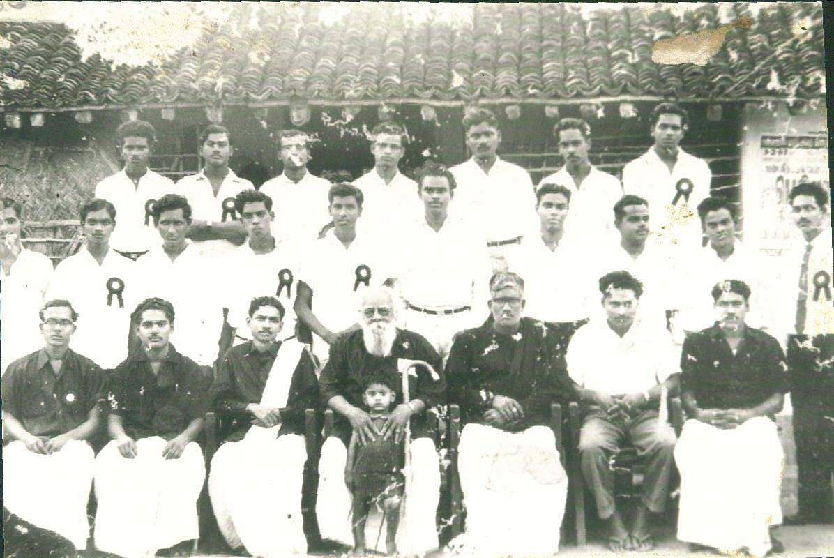 Dravida Kazhagam founder Periyar with K Veeramani and others.