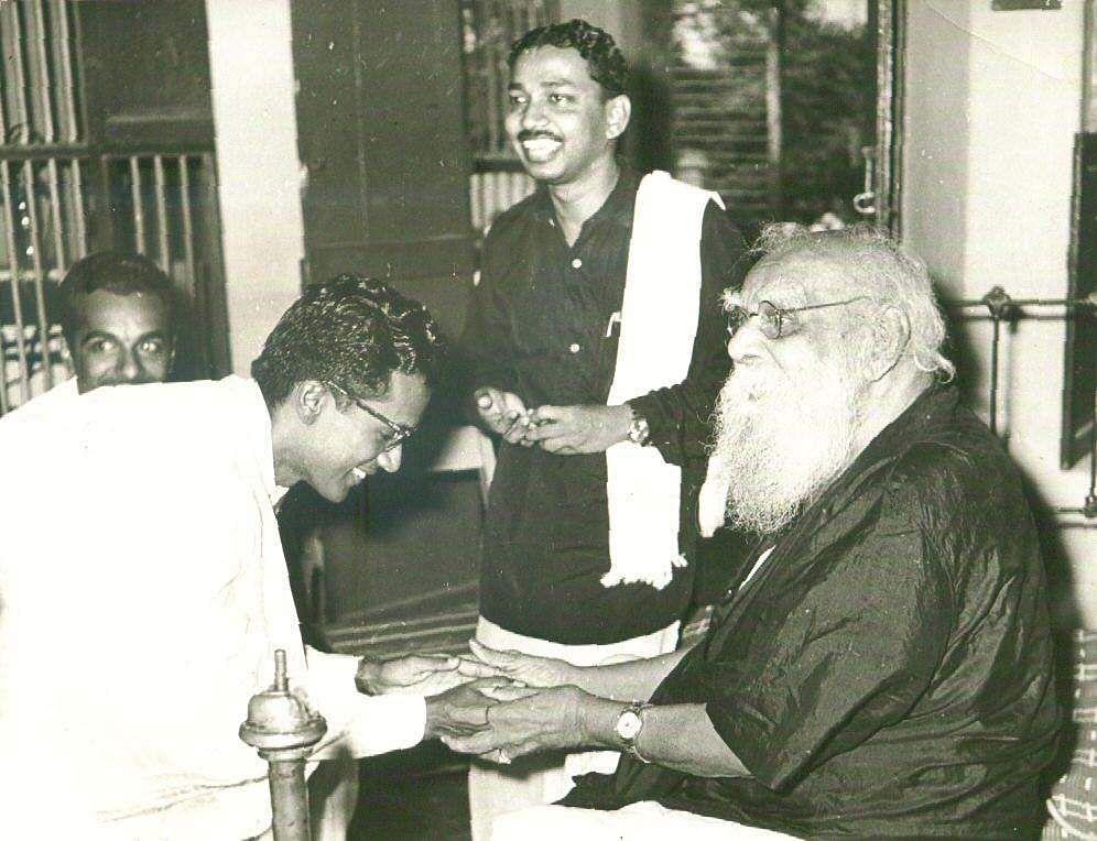 DravidaKazhagam founder Periyar with former DMK Minister OP Raman.