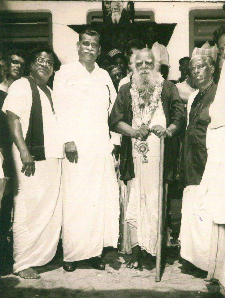 Dravida Kazhagam founder Periyar with veteran film actor MR Radha.