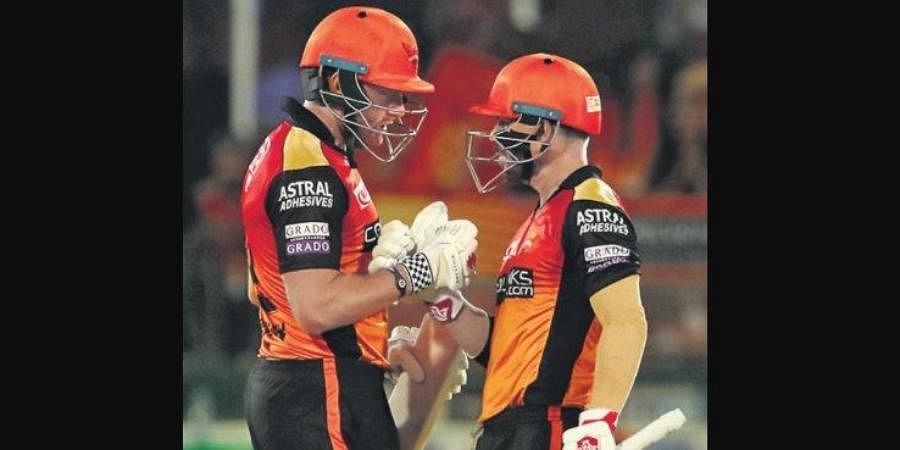 Sunrisers Hyderabad will be able to field Jonny Bairstow (L) and David Warner in their first match if norms are relaxed.