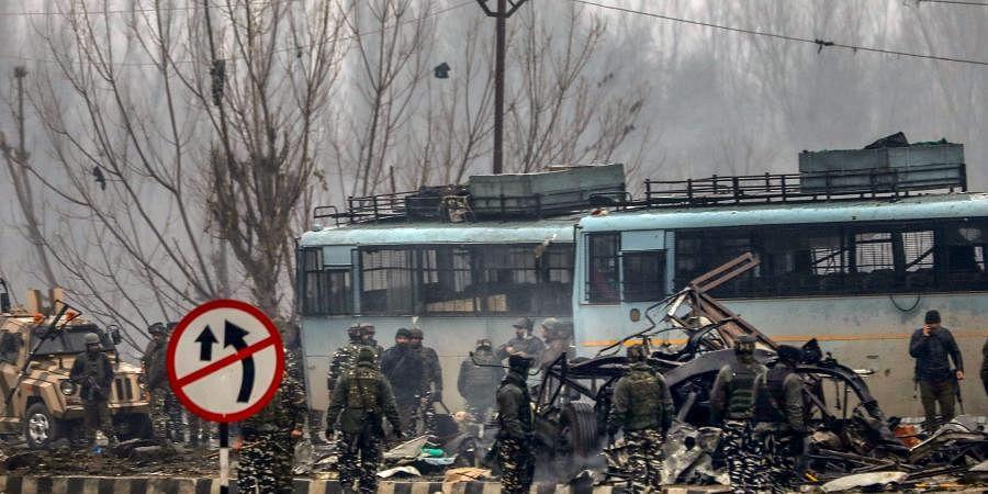Pulwama suicide bomb attack site