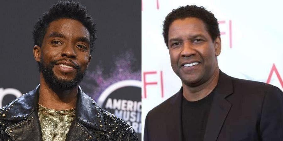(L) Late actor CChadwick Boseman and (R) Denzel Washington (File Photos | AP)