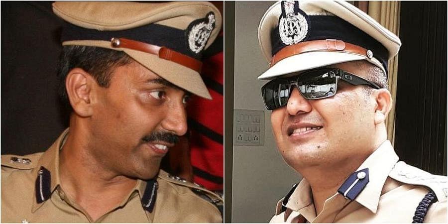 Senior IPS officers Amitabh Gupta (L) and Shivdeep Lande