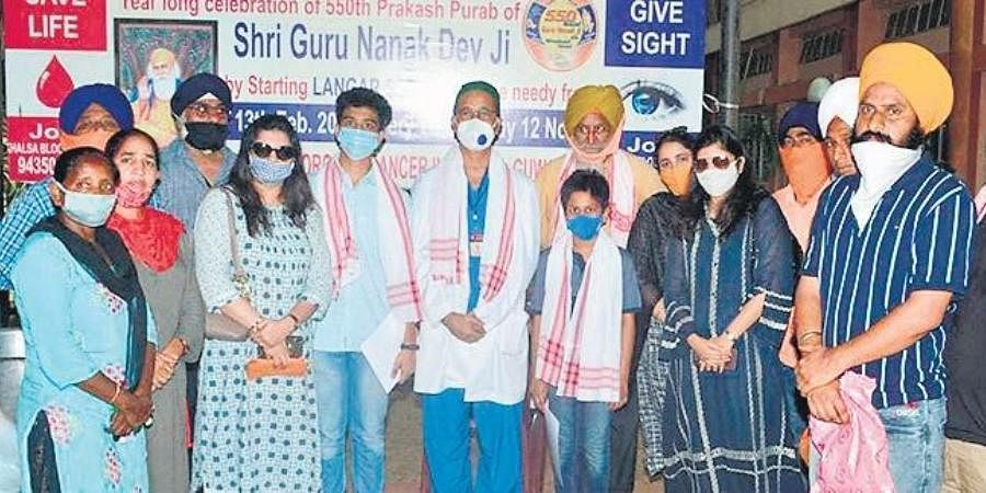 Two youngsters raised Rs 57,000 for NGO Khalsa Centre North East.
