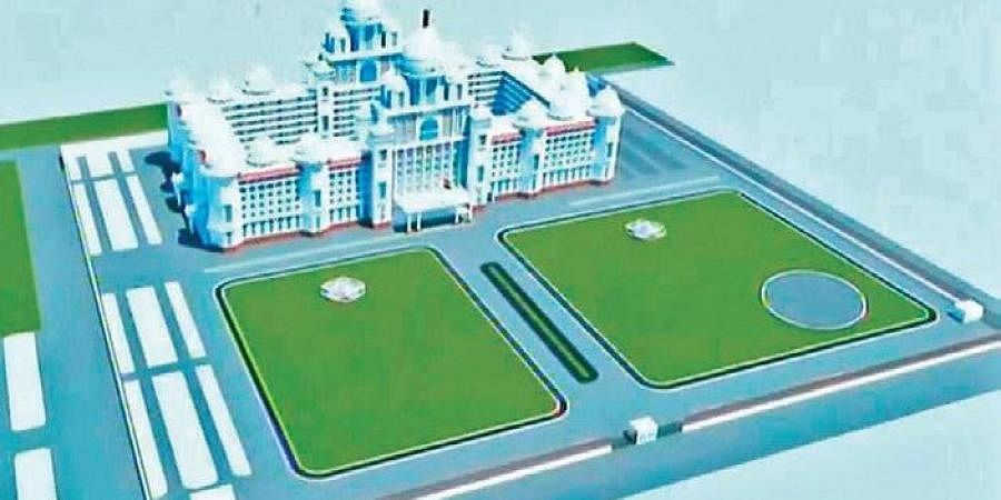 An artist's impression of the new Secretariat building