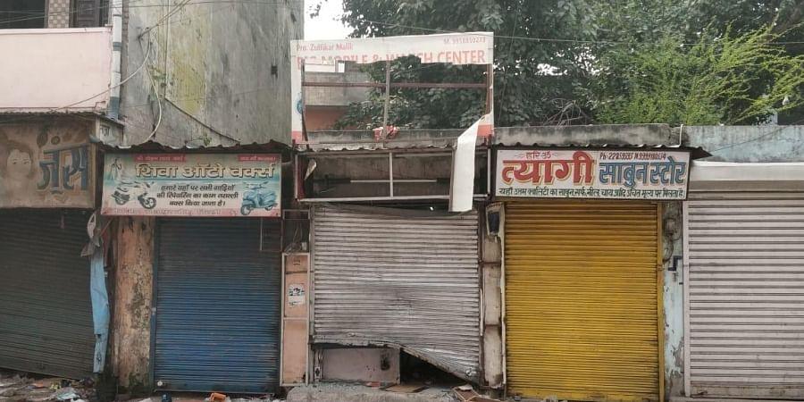 Delhi Riots: Shops of Muslims in Hindu-dominated area vandalized (Credits: Sana Shakil/EPS)