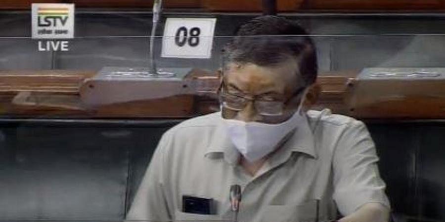 Labour Minister Santosh Kumar Gangwar in Lok Sabha.