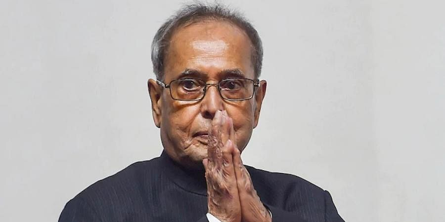 Former Indian President Pranab Mukherjee