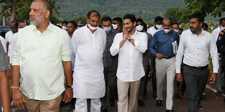 Chief Minister YS Jagan Mohan Reddy arrives in Kadapa
