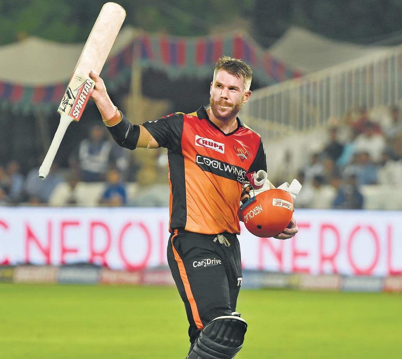 David Warner scored 81 off 56 balls against Kings XI Punjab on Monday  | Vinay Madapu