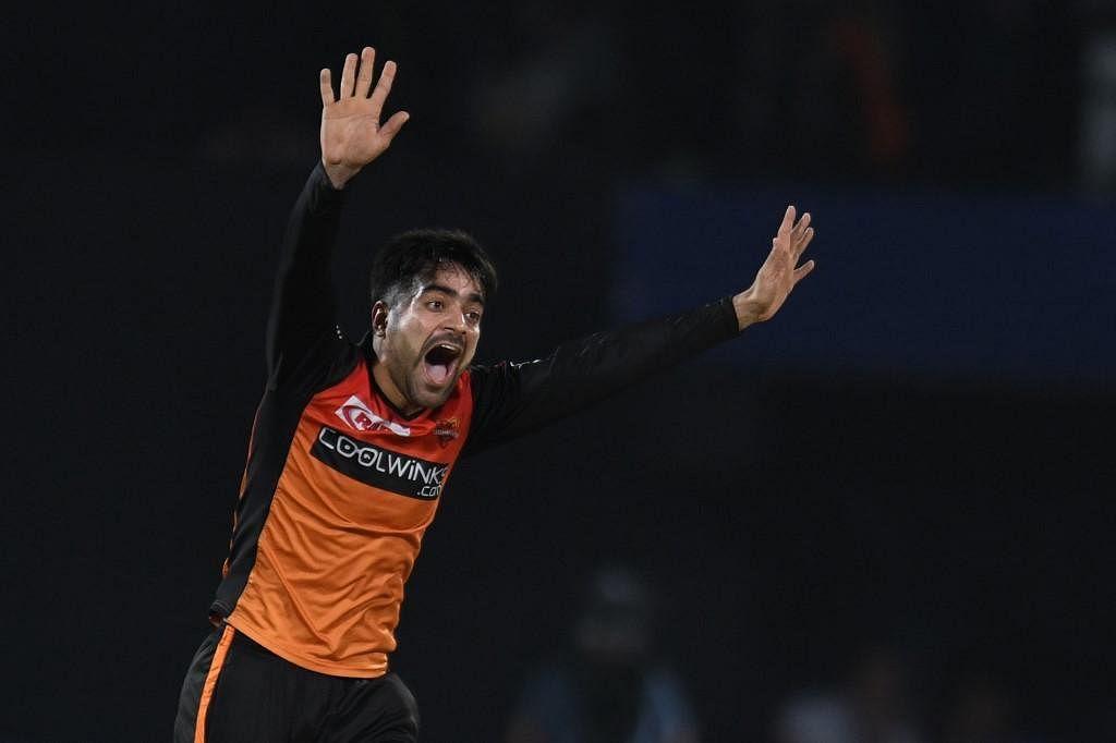 Sunrisers Hyderabad cricketer Rashid Khan. (Photo | AFP)