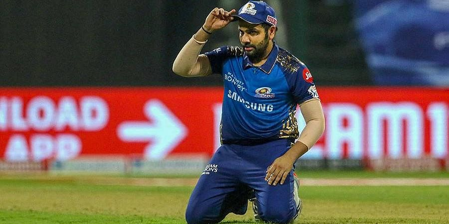 Mumbai Indians Skipper Rohit Sharma during the first cricket match of IPL 2020 against Chennai Super Kings at Sheikh Zayed Stadium.
