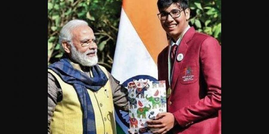 Parth Sarthi with PM Narendra Modi