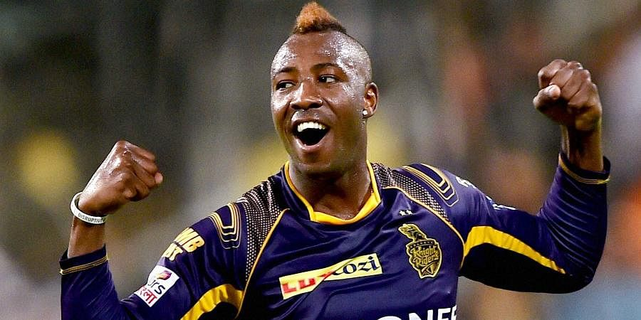 Andre Russell: The six-hitting West Indies maverick is the reigning player of the tournament. Cleared boundaries at ease in 2019 and will look to do the same.  (Photo | PTI)