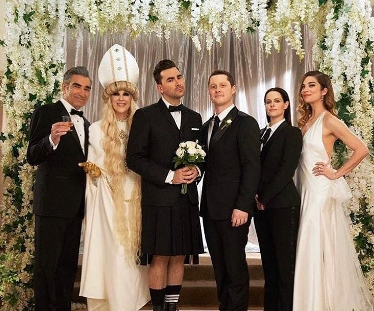 Refreshing take on LGBTQ relationships: One of the many reasons Schitt's Creek became so popular is because it didn't try make a statement out David and Patrick's relationship. Daniel infact, portrays a pansexual character in the show. The approach to normalisation is to often let things be, and that's the path the show chose. (Photo   Instagram)