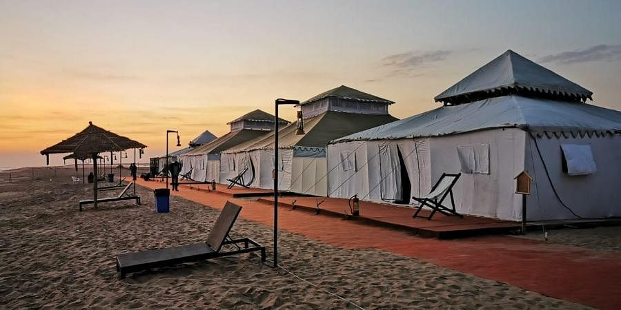Luxurious tents put up at Ramchandi beach in Odisha during the first edition of Eco Retreat last year