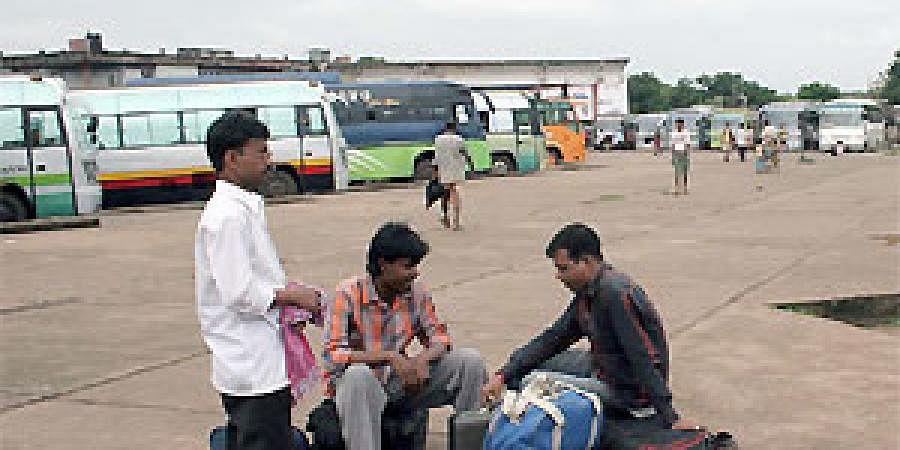 Baramunda bus stand in Bhubaneswar
