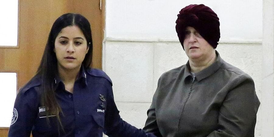 This Feb. 27, 2018, file photo, Australian Malka Leifer, right, is brought to a courtroom in Jerusalem. (Photo | AP)