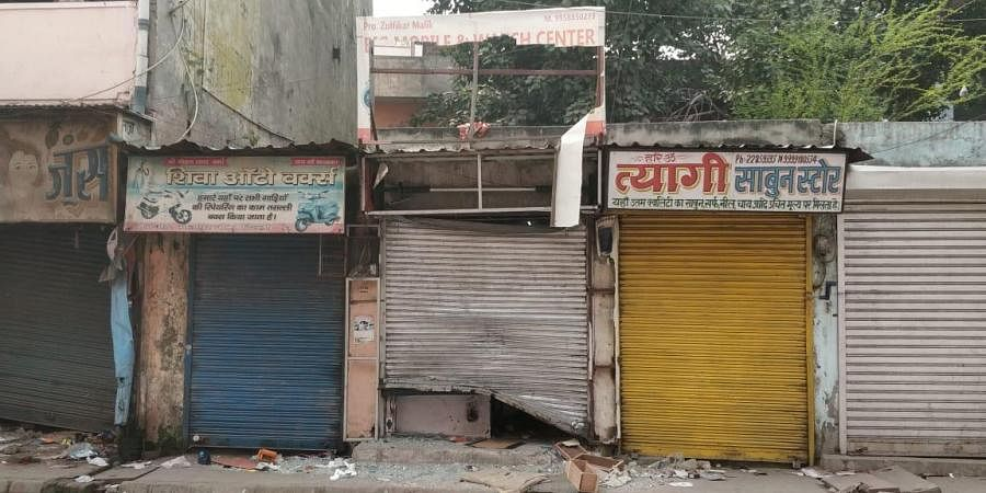 Delhi Riots: Shops of Muslims in Hindu-dominated area vandalized (Credits: Sana Shakil/EPS)