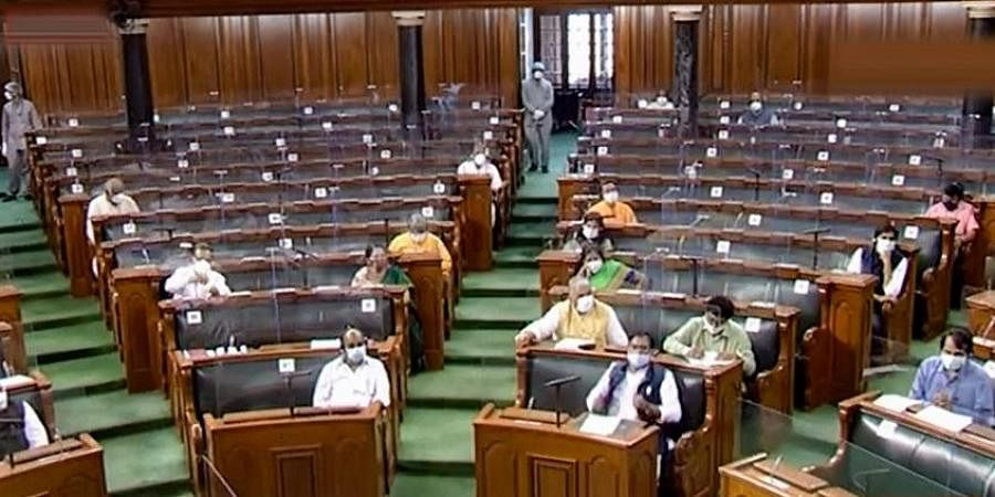 Parliamentarians in Rajya Sabha during the ongoing Monsoon Session of Parliament, in New Delhi.