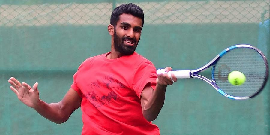 Indian tennis star Prajnesh Gunneswaran