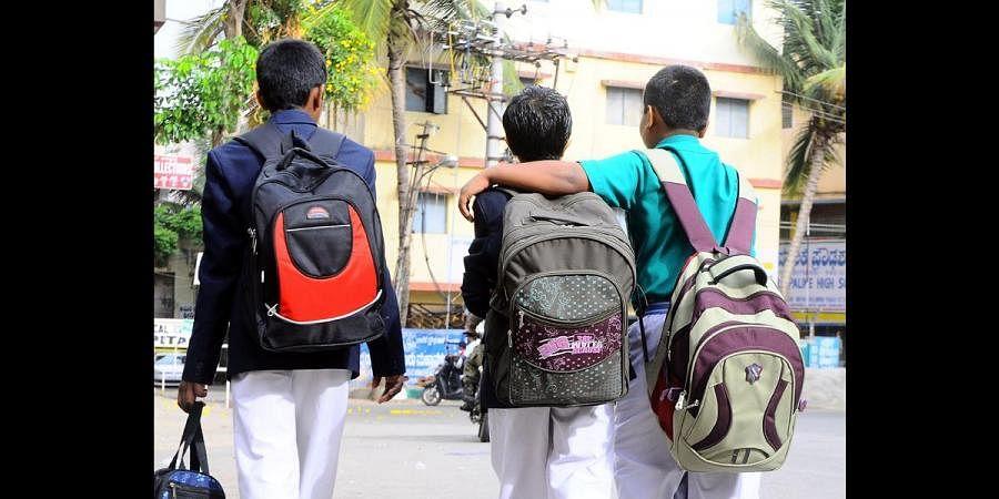 School kids, School bags