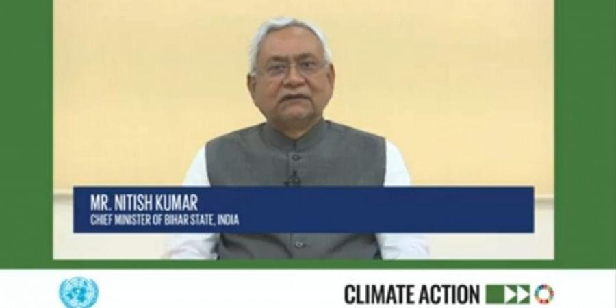 Bihar CM Nitish Kumar at UN virtual meet.