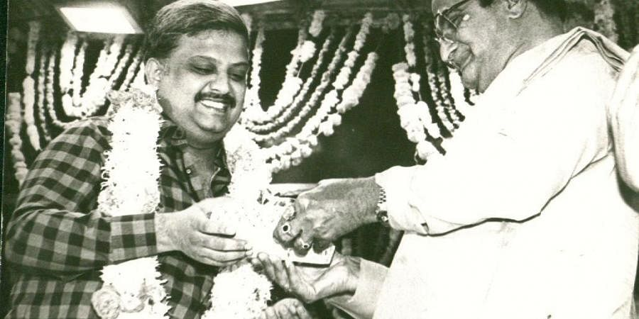 The singer has won six national awards and the first one was for the Telugu movie song 'Om Kaara Naadhanu' in the movie'Sankarabaranam'. In picture,  SP Balasubrahmanyam receiving the award from N T Rama Rao, Chief Minister of Andhra Pradesh. (Photo | EP