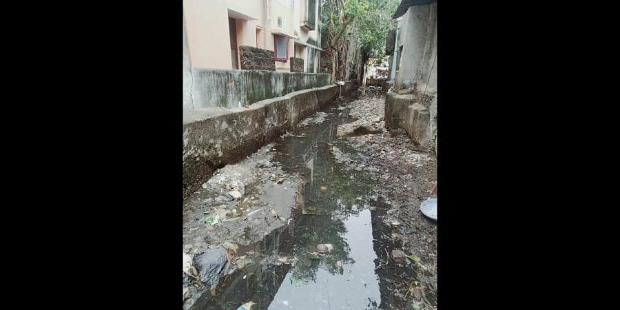 Encroachments have reduced the width of channel to Pallavaram lake