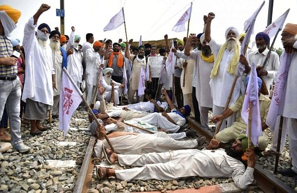 Farm bills: Rail roko agitation extended till September 29 in Punjab