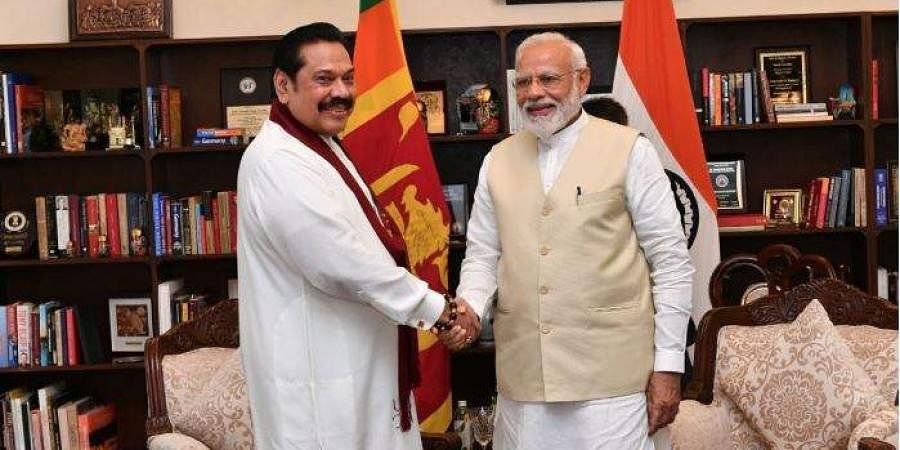 PM Modi congratulating newly appointed Sri Lanka Prime Minister Mahinda Rajapaksa