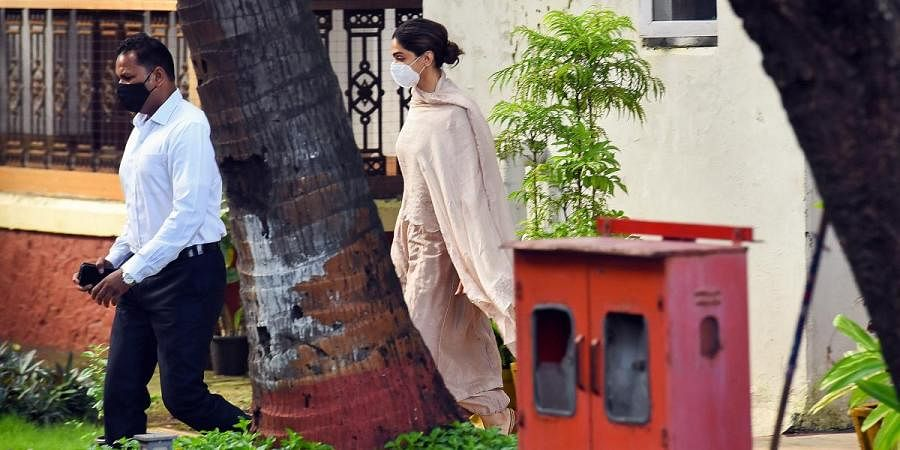 Bollywood actress Deepika Padukone leaves NCB guest house after being questions in a drug probe