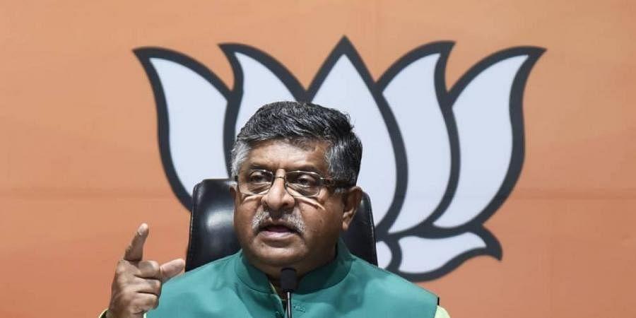 Union Minister Ravi Shankar Prasad (Photo | Parveen Negi,EPS)