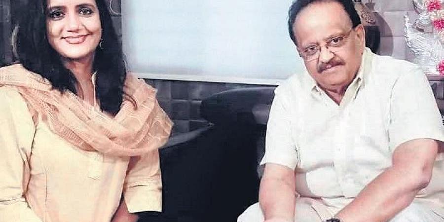 Swapna Sundari with SP Balasubrahmanyam