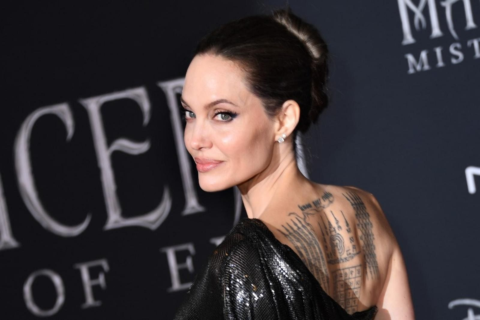 Actor Angelina Jolie arrives for the world premiere of Disney's 'Maleficent: Mistress of Evil' at the El Capitan Theatre in Hollywood.