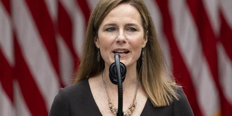 Judge Amy Coney Barrett speaks after President Donald Trump announced her as his nominee to the Supreme Court. (Photo | AP)