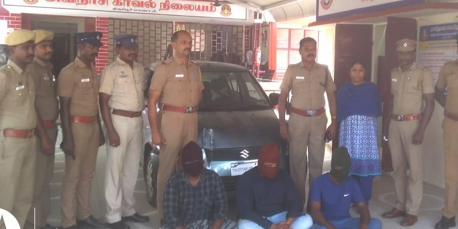 The three men were arrested, remanded and taken to the Tirupur District Jail on Sunday morning.