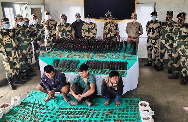 Massive arms haul in Mizoram, BSF recovers 30 assault rifles