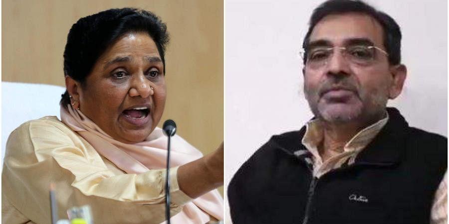 BSP supremo Mayawati and RLSP chief Upendra Kushwaha. (Photo| EPS/ Twitter)