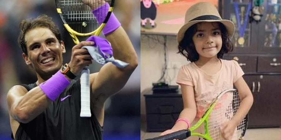 19-time Grand Slam champion Rafael Nadal and Viviktha Visakh