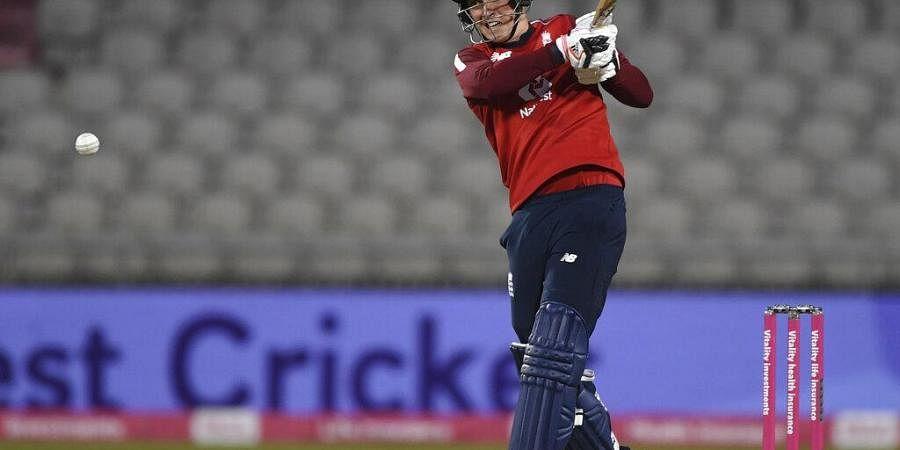 England's Tom Banton bats during the third Twenty20 cricket match