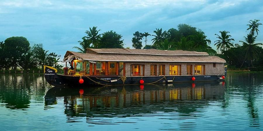 A house boat on the backwaters of Kerala. (Photo| Kerala tourism)