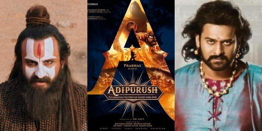 Saif Ali Khan in and as 'Laal Kaptaan' (L) and Prabhas in and as 'Baahubali' (R)